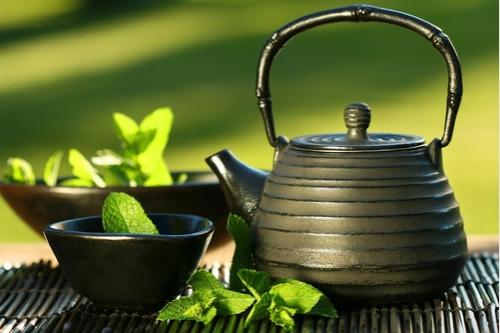 Relaks przy miętowej herbatce