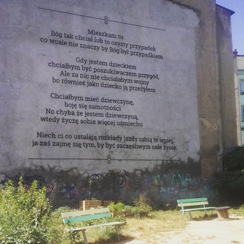 Na ścianie w Poznaniu