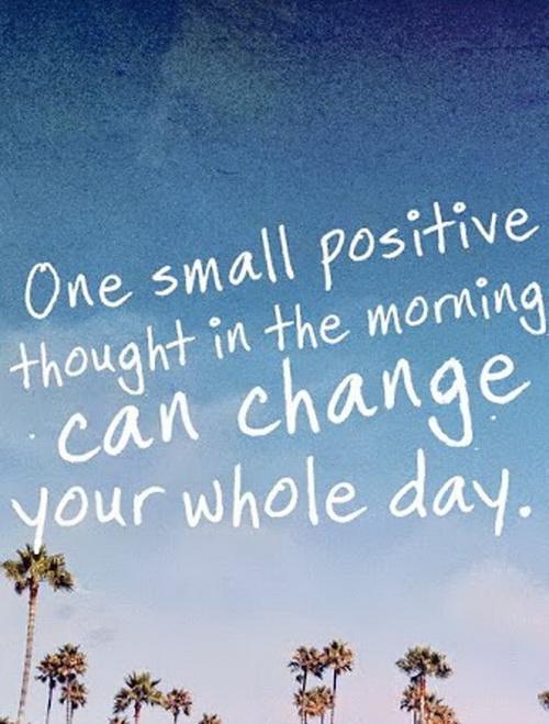 Pozytywne myślenie od samego rana