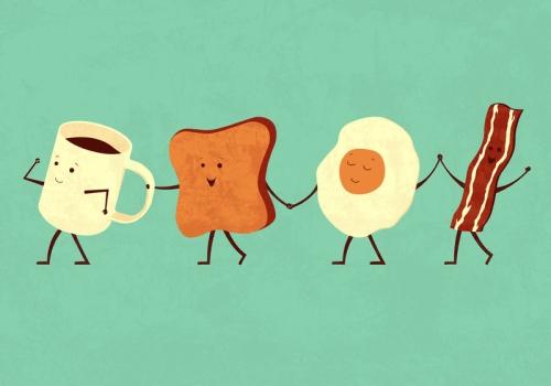 Szczęśliwe śniadanie
