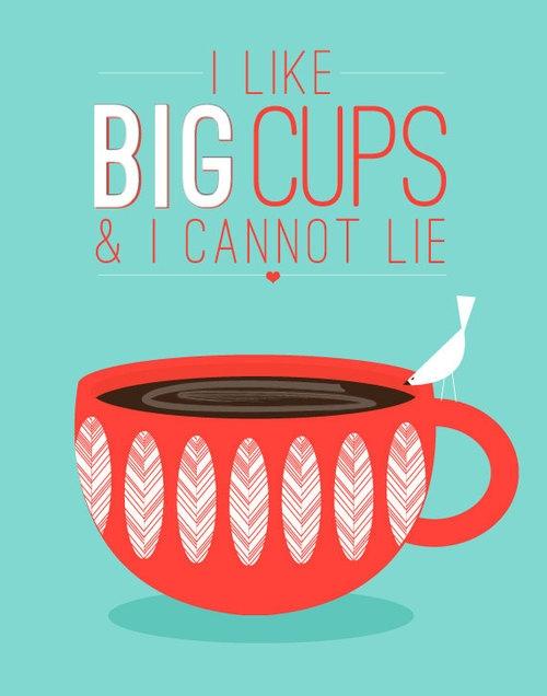 Duża kawa na śniadanie, średnia kawa na lunch :)